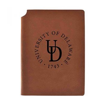 University of Delaware Velour Journal with Pen Holder|Carbon Etched|Officially Licensed Collegiate Journal|