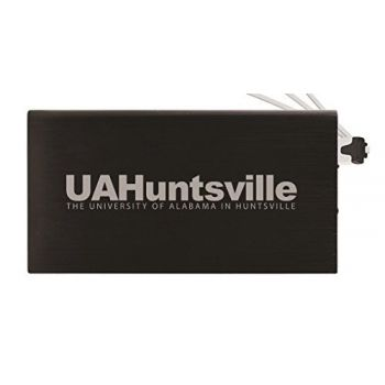 8000 mAh Portable Cell Phone Charger-University of Alabama in Huntsville -Black