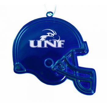 University of North Florida - Chirstmas Holiday Football Helmet Ornament - Blue