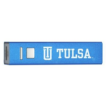 University of Tulsa - Portable Cell Phone 2600 mAh Power Bank Charger - Blue