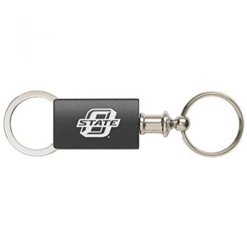 Oklahoma State University??Stillwater - Anodized Aluminum Valet Key Tag - Black