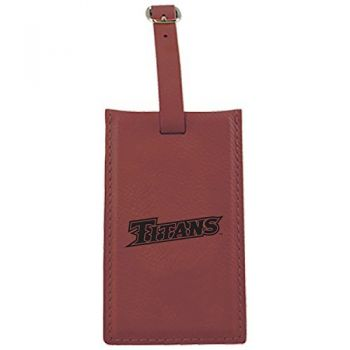 California State University Fullerton -Leatherette Luggage Tag-Burgundy