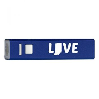Indiana-State Outline-Love-Portable 2600 mAh Cell Phone Charger-