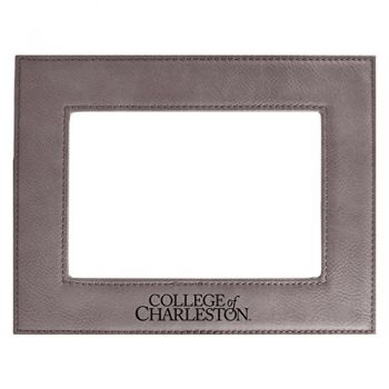 College of Charleston-Velour Picture Frame 4x6-Grey