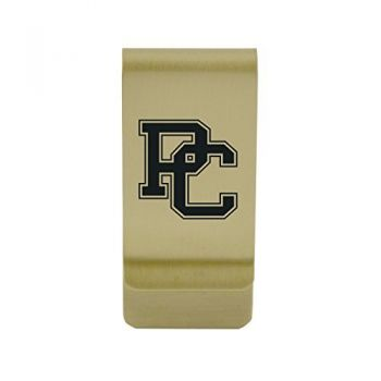 Portland State University|Money Clip with Contemporary Metals Finish|Solid Brass|High Tension Clip to Securely Hold Cash, Cards and ID's|Silver