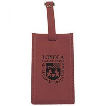 Loyola University Chicago -Leatherette Luggage Tag-Burgundy