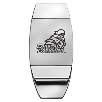 Coastal Carolina University - Two-Toned Money Clip - Silver