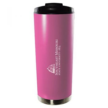Southeast Missouri State University-16oz. Stainless Steel Vacuum Insulated Travel Mug Tumbler-Pink
