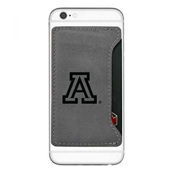 Arizona Wildcats-Cell Phone Card Holder-Grey