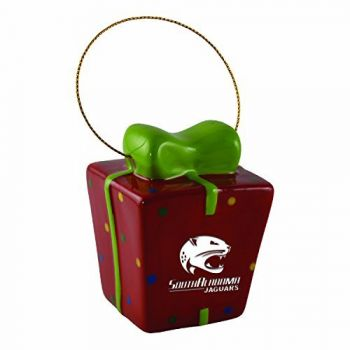 University of South Alabama-3D Ceramic Gift Box Ornament
