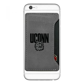 University of Connecticut-Cell Phone Card Holder-Grey