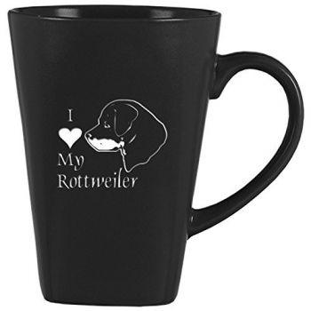 14 oz Square Ceramic Coffee Mug  - I Love My Rottweiler