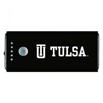 University of Tulsa-Portable Cell Phone 5200 mAh Power Bank Charger -Black