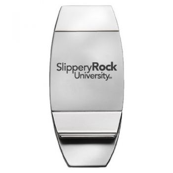 Slippery Rock University of Pennsylvania - Two-Toned Money Clip - Silver
