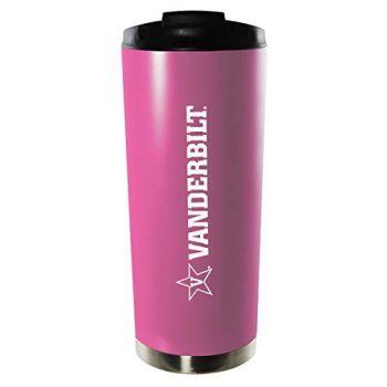 Vanderbilt University-16oz. Stainless Steel Vacuum Insulated Travel Mug Tumbler-Pink
