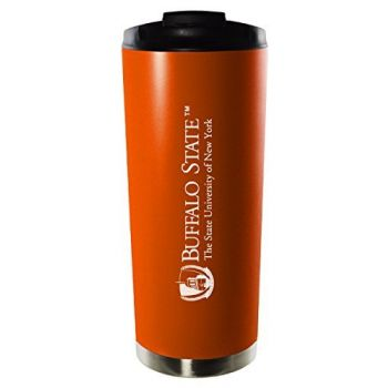 Buffalo State, State University of New York-16oz. Stainless Steel Vacuum Insulated Travel Mug Tumbler-Orange