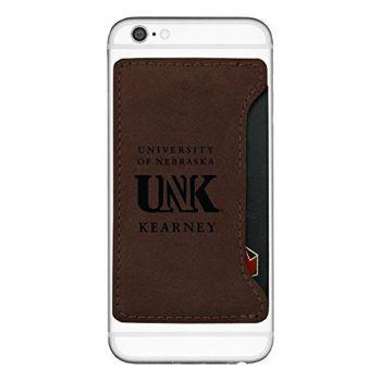 University of Nebraska at Kearney-Cell Phone Card Holder-Brown