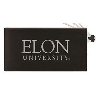 8000 mAh Portable Cell Phone Charger-Elon University -Black