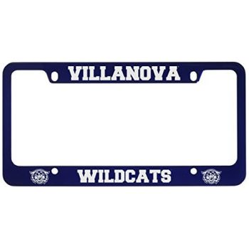 Villanova University -Metal License Plate Frame-Blue