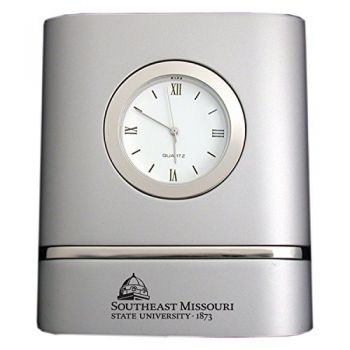 Southeast Missouri State University- Two-Toned Desk Clock -Silver