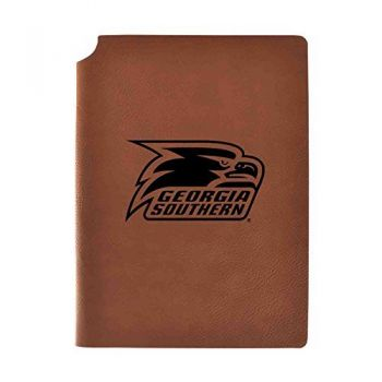 Georgia Southern University Velour Journal with Pen Holder|Carbon Etched|Officially Licensed Collegiate Journal|