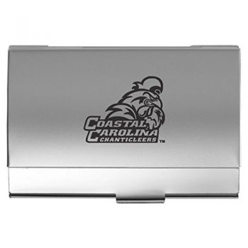 Coastal Carolina University - Two-Tone Business Card Holder - Silver