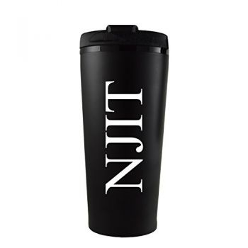 New Jersey institute of Technology-16 oz. Travel Mug Tumbler-Black