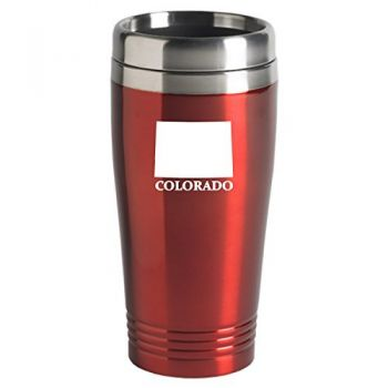 16 oz Stainless Steel Insulated Tumbler - Colorado State Outline - Colorado State Outline