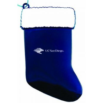 University of California San Diego - Chirstmas Holiday Stocking Ornament - Blue