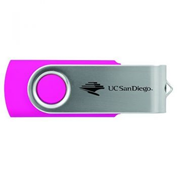 University of California, San Diego-8GB 2.0 USB Flash Drive-Pink