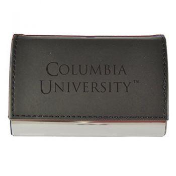 Velour Business Cardholder-Columbia University-Black