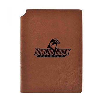 Bowling Green State University Velour Journal with Pen Holder|Carbon Etched|Officially Licensed Collegiate Journal|