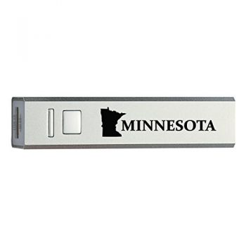 Minnesota-State Outline-Portable 2600 mAh Cell Phone Charger-