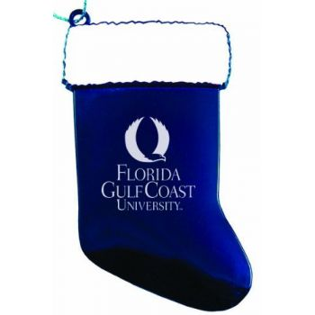 Florida Gulf Coast University - Christmas Holiday Stocking Ornament - Blue