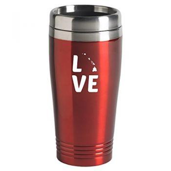 16 oz Stainless Steel Insulated Tumbler - Hawaii Love - Hawaii Love