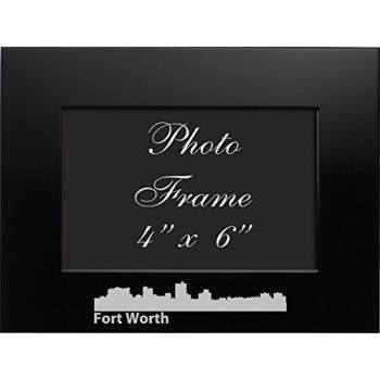 4 x 6  Metal Picture Frame - Fort Worth City Skyline