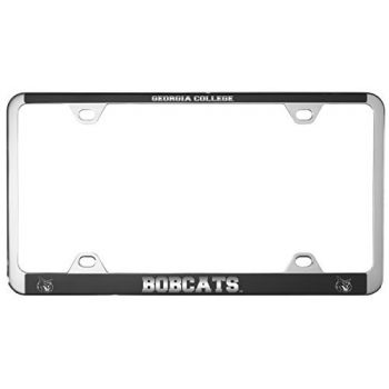 Georgia College-Metal License Plate Frame-Black
