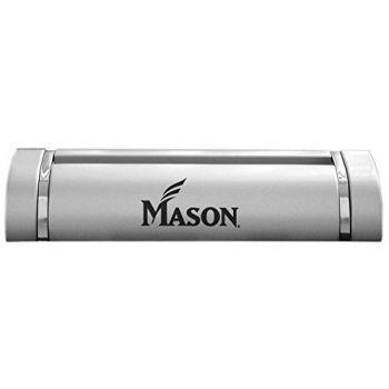 George Mason University-Desk Business Card Holder -Silver