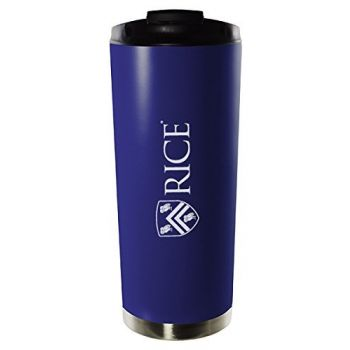 Rice University-16oz. Stainless Steel Vacuum Insulated Travel Mug Tumbler-Blue