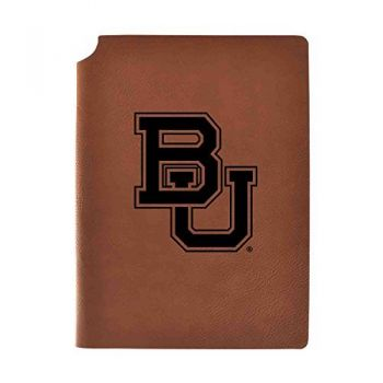 Baylor University Velour Journal with Pen Holder|Carbon Etched|Officially Licensed Collegiate Journal|
