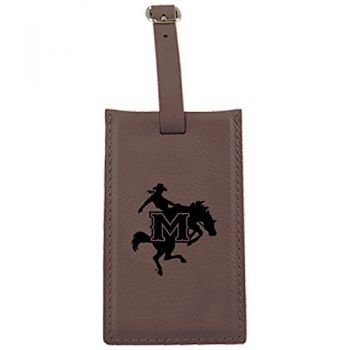 McNeese State University-Leatherette Luggage Tag-Brown