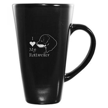16 oz Square Ceramic Coffee Mug  - I Love My Rottweiler
