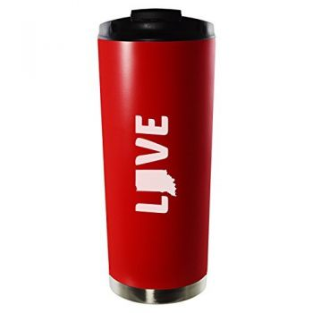 16 oz Vacuum Insulated Tumbler with Lid - Indiana Love - Indiana Love
