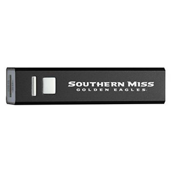 University of Southern Mississippi - Portable Cell Phone 2600 mAh Power Bank Charger - Black