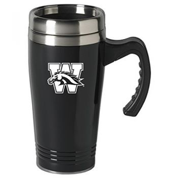 Western Michigan University-16 oz. Stainless Steel Mug-Black