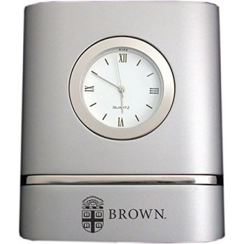 Brown University- Two-Toned Desk Clock -Silver