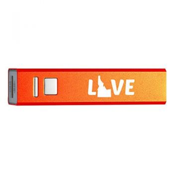 Idaho-State Outline-Love-Portable 2600 mAh Cell Phone Charger-