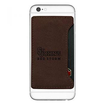 St. John's University-Cell Phone Card Holder-Brown