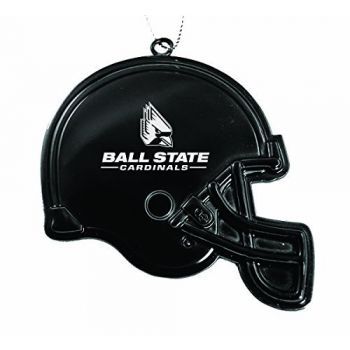 Ball State University - Chirstmas Holiday Football Helmet Ornament - Black