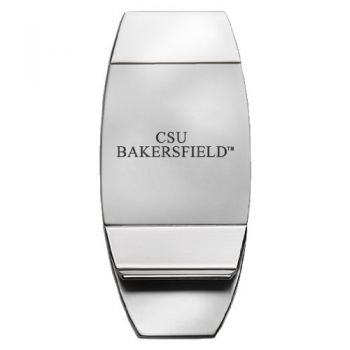 California State University, Bakersfield - Two-Toned Money Clip - Silver